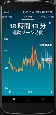 Fitbit 運動ゾーン時間